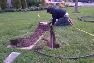 irrigation repair service - réparation de systèmes d'irrigation