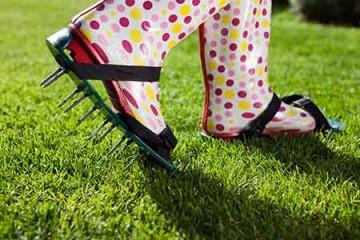 lawn aerator - lawn aeration